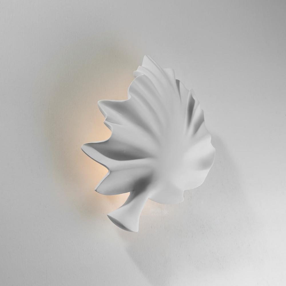 اضاءة مودرن داخلية جبس 3D بشكل ورقة شجر - فانوس