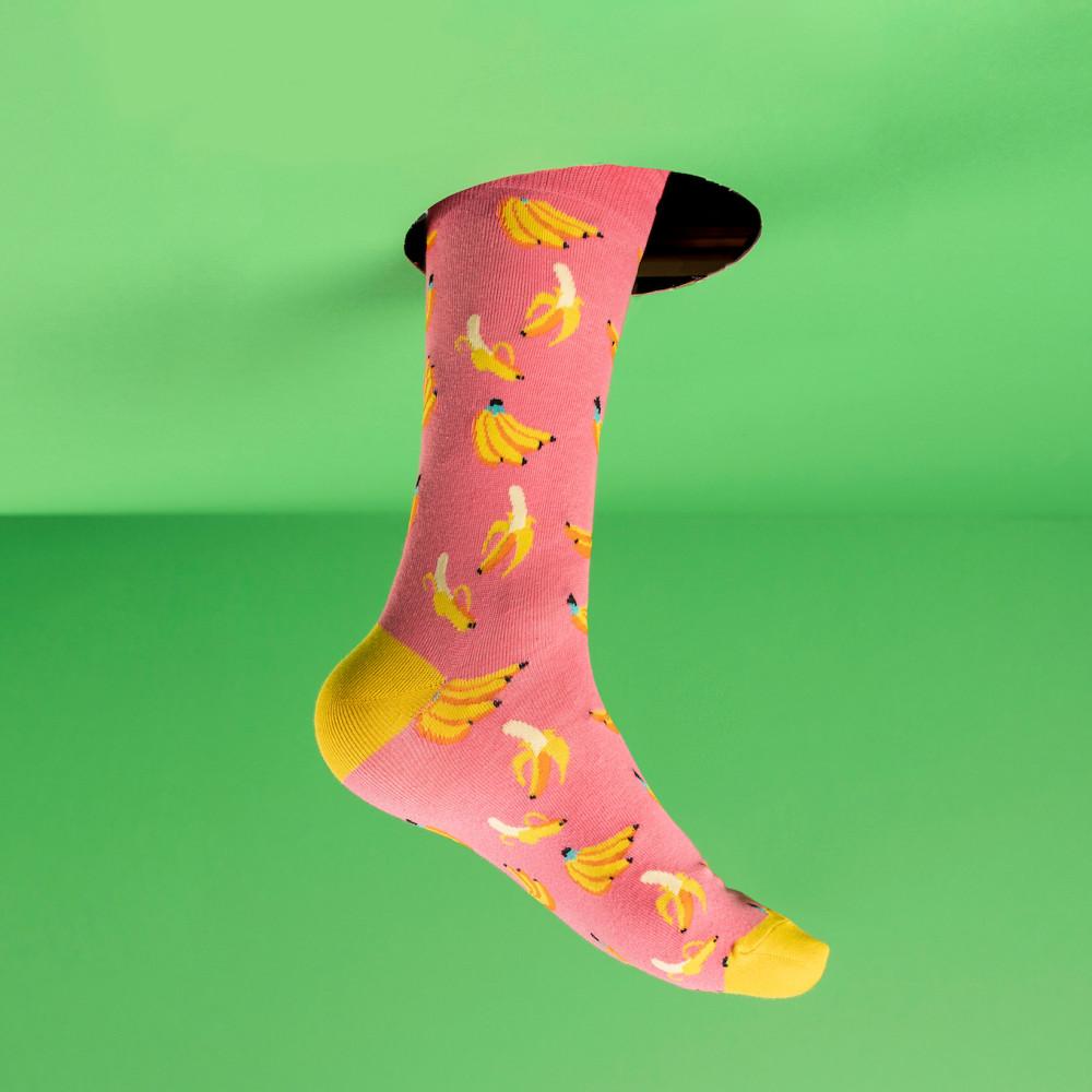 تصميم عصري - جورب الموز الوردي -  Apogee socks