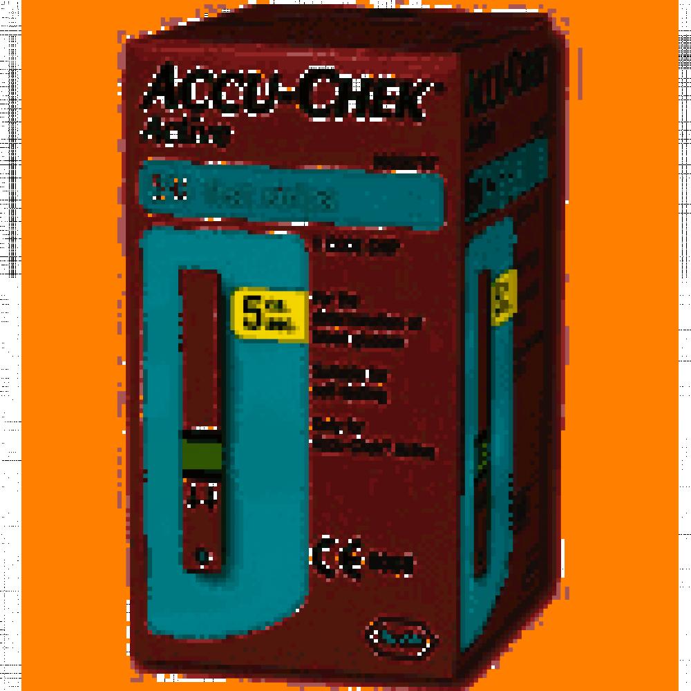 شرائط تحليل السكر لجهاز Accu Chek Instant مؤسسة الأنصاري الطبية
