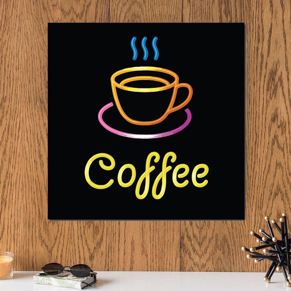 لوحة القهوة خشب ام دي اف مقاس 30x30 سنتيمتر