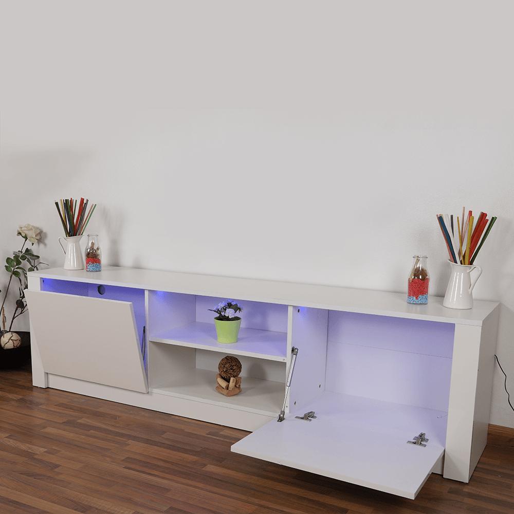 طاولة تلفاز من خشب particle board مع رفوف واسعة من تجارة بلا حدود
