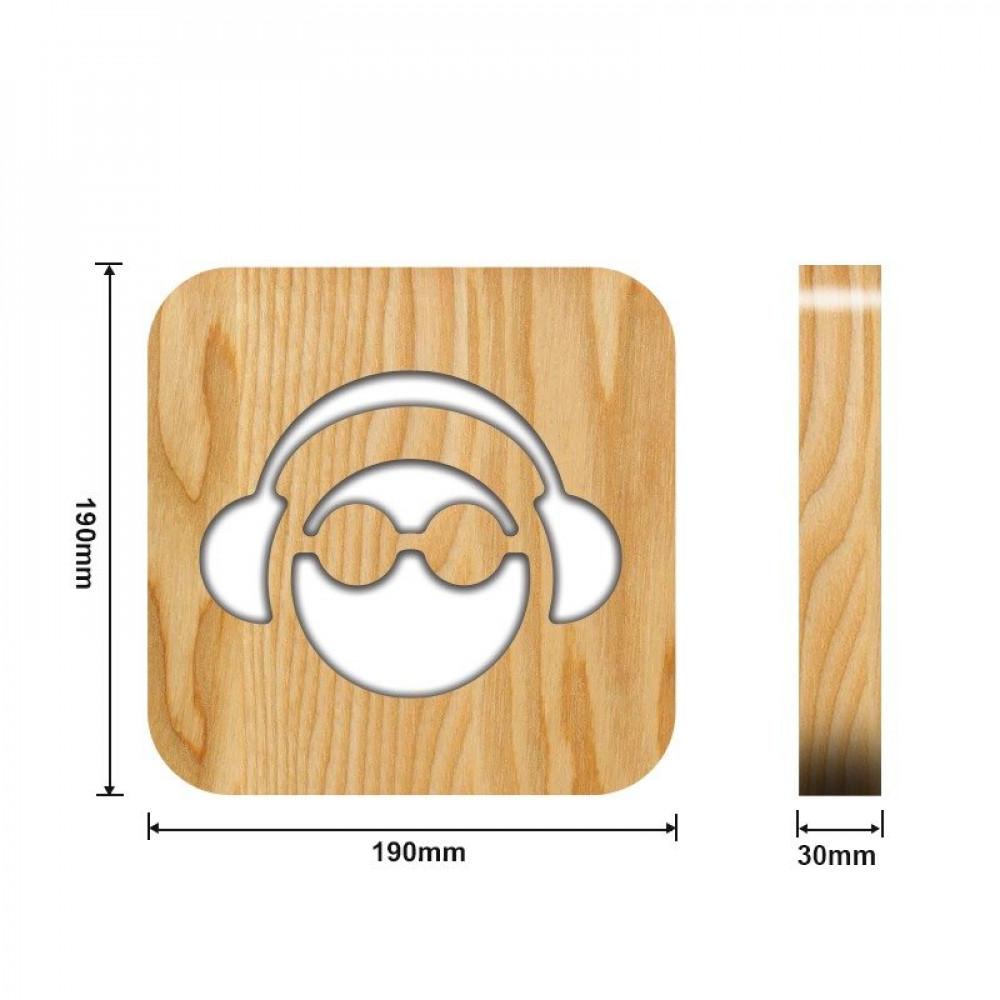 من متجر مواسم تحفة مضيئة على شكل سماعة الأذن القياسات التفصيلية للتحفة