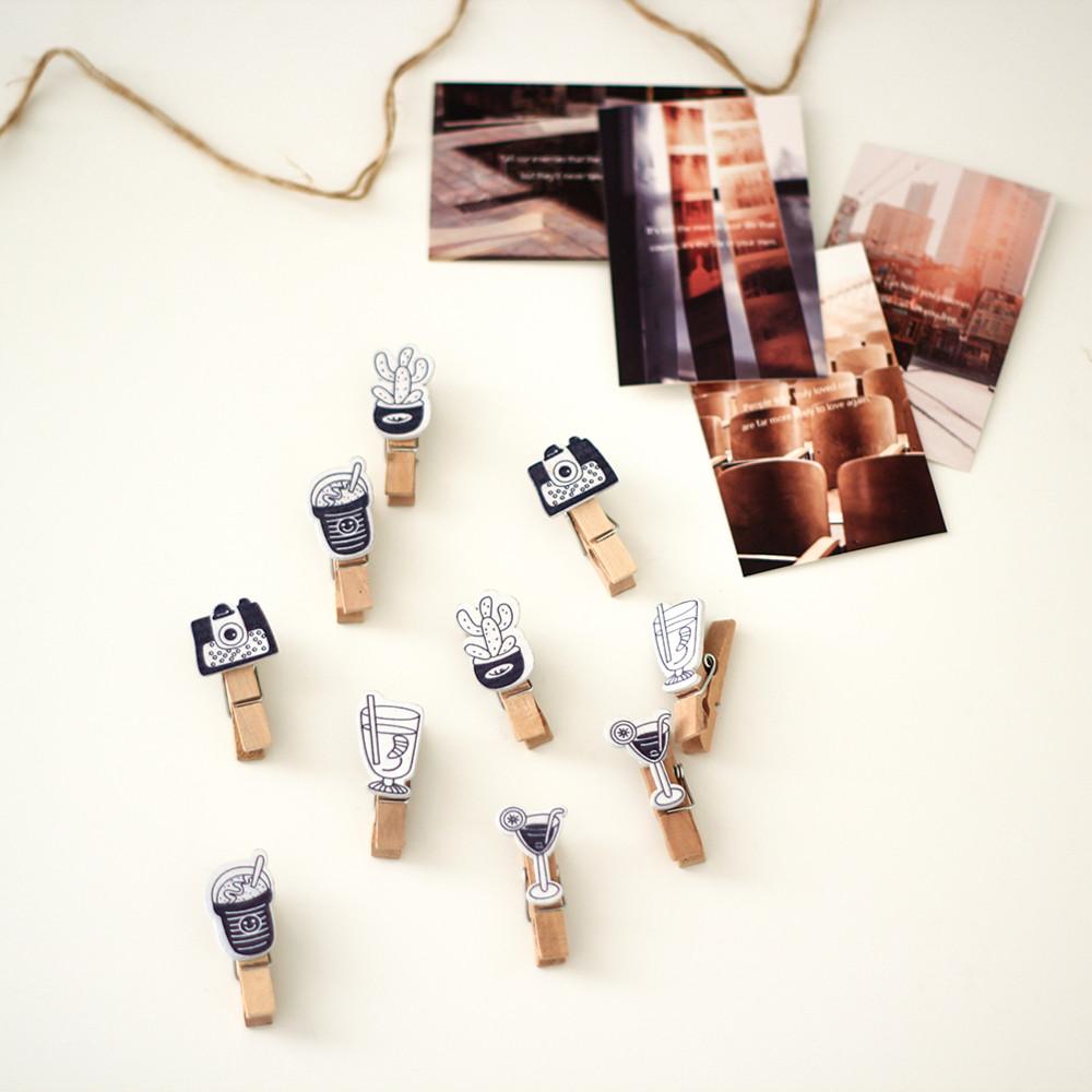 مشبك مشابك خشبية طريقة تزيين حائط المكتب جدار المكتب اكسسوارات المكتب