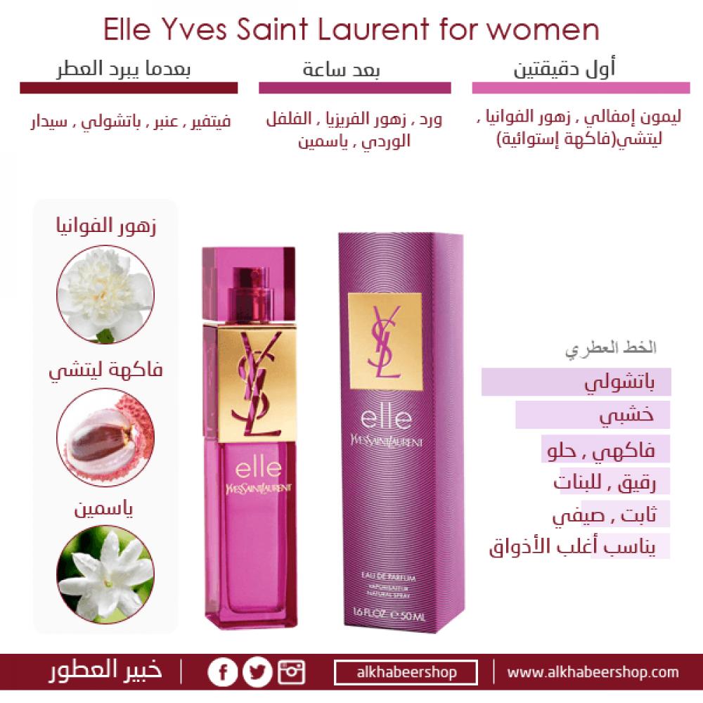 Yves Saint Laurent Elle Yves Saint Laurent Eau de Parfum 90ml خبير الع