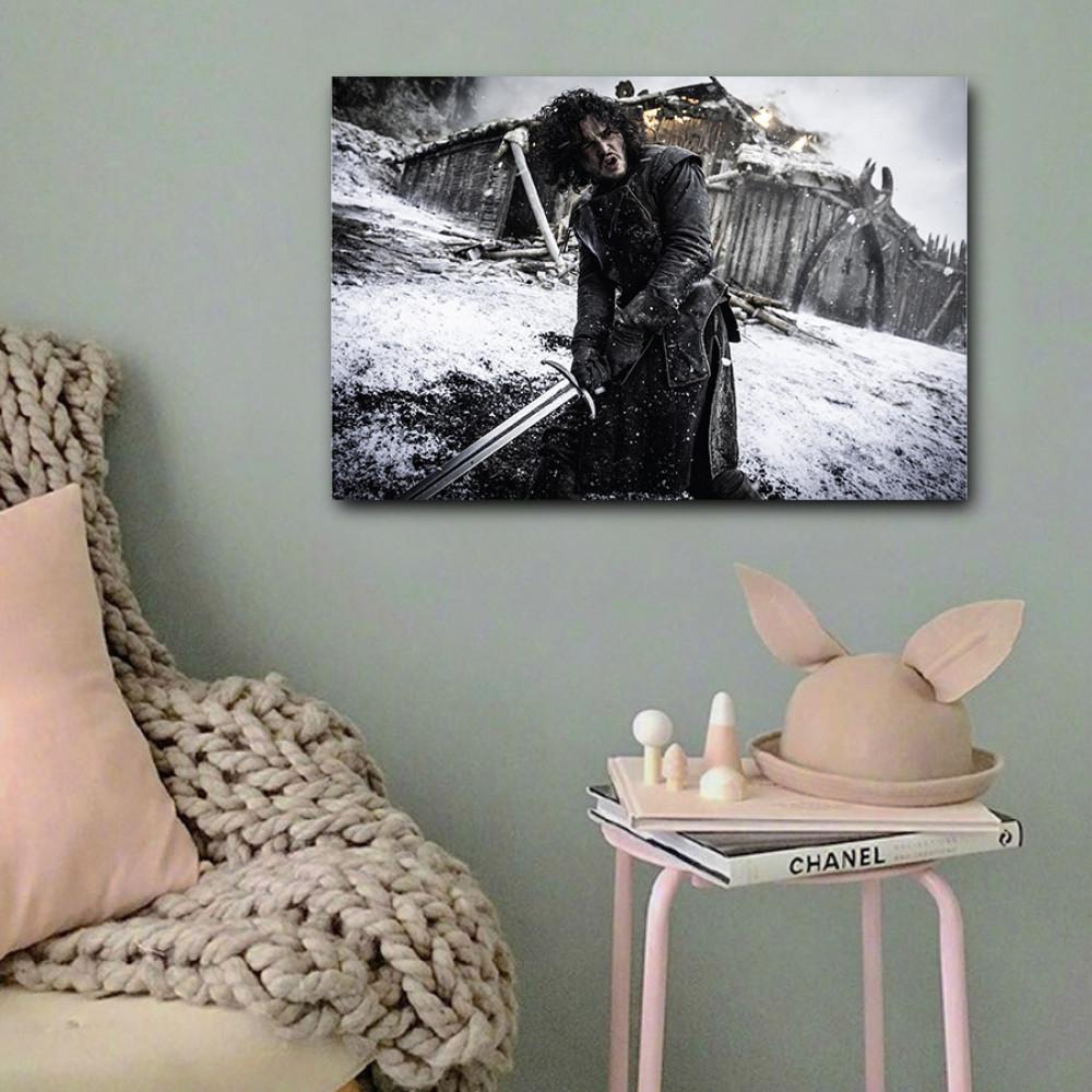 لوحة جون سنو خشب ام دي اف مقاس 40x60 سنتيمتر