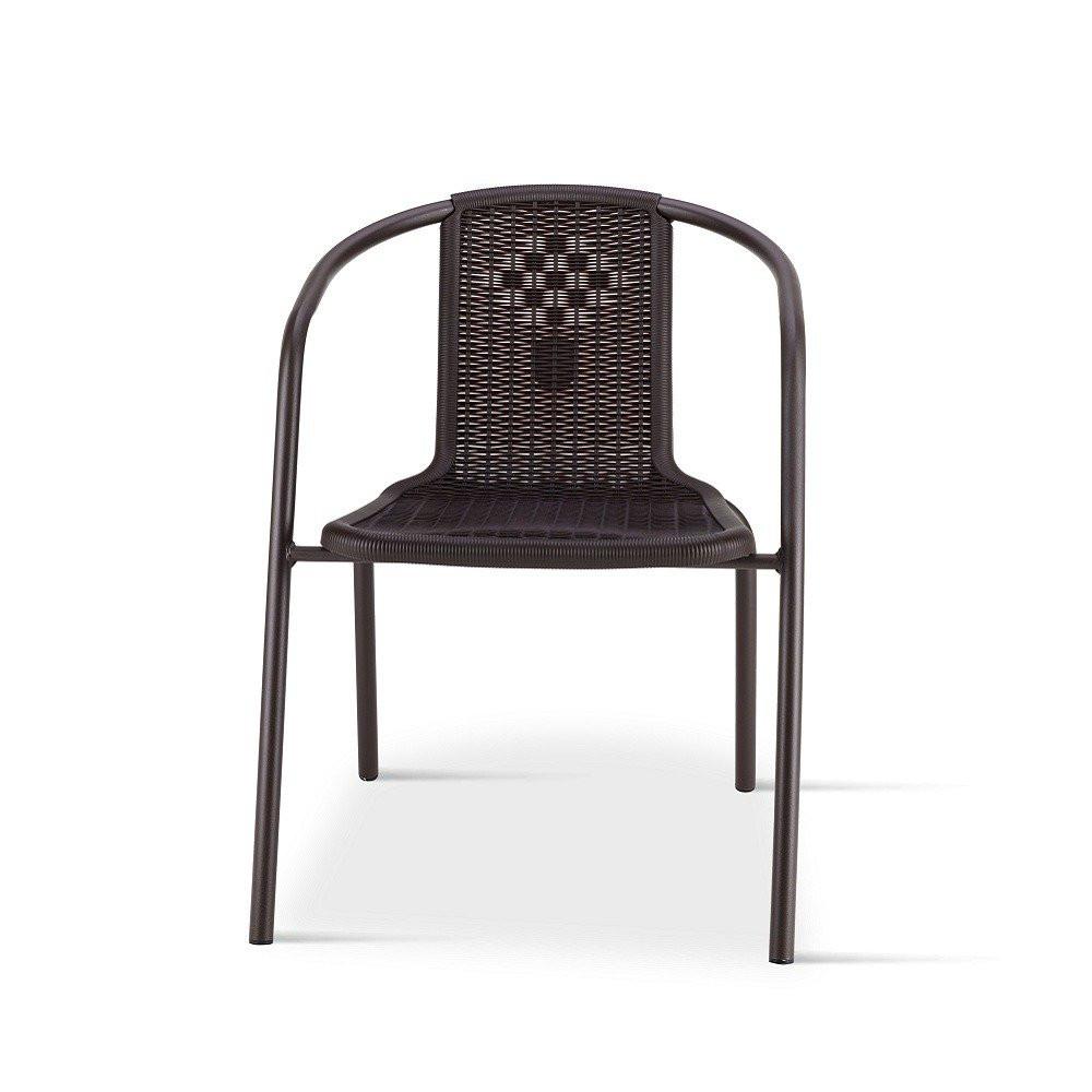 رؤية أمامية لكرسي في طقم كراسي بلون البني المحروق من ديل يوتريد