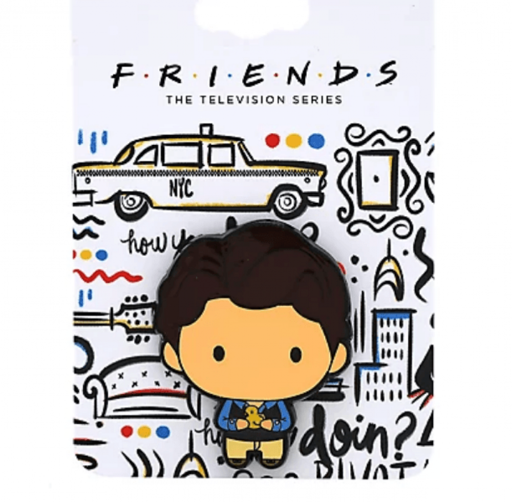 Friends Chandler with Chick Chibi Enamel Pin