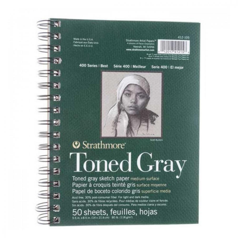 كراسة ستراثمور رمادي Strathmore Pad Sketch Toned Grey