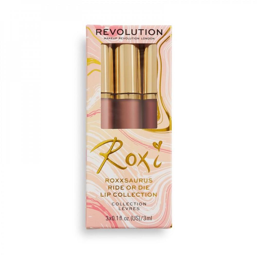 مجموعة ارواج ريفلوشن Revolution X Roxxsaurus Lip Kit
