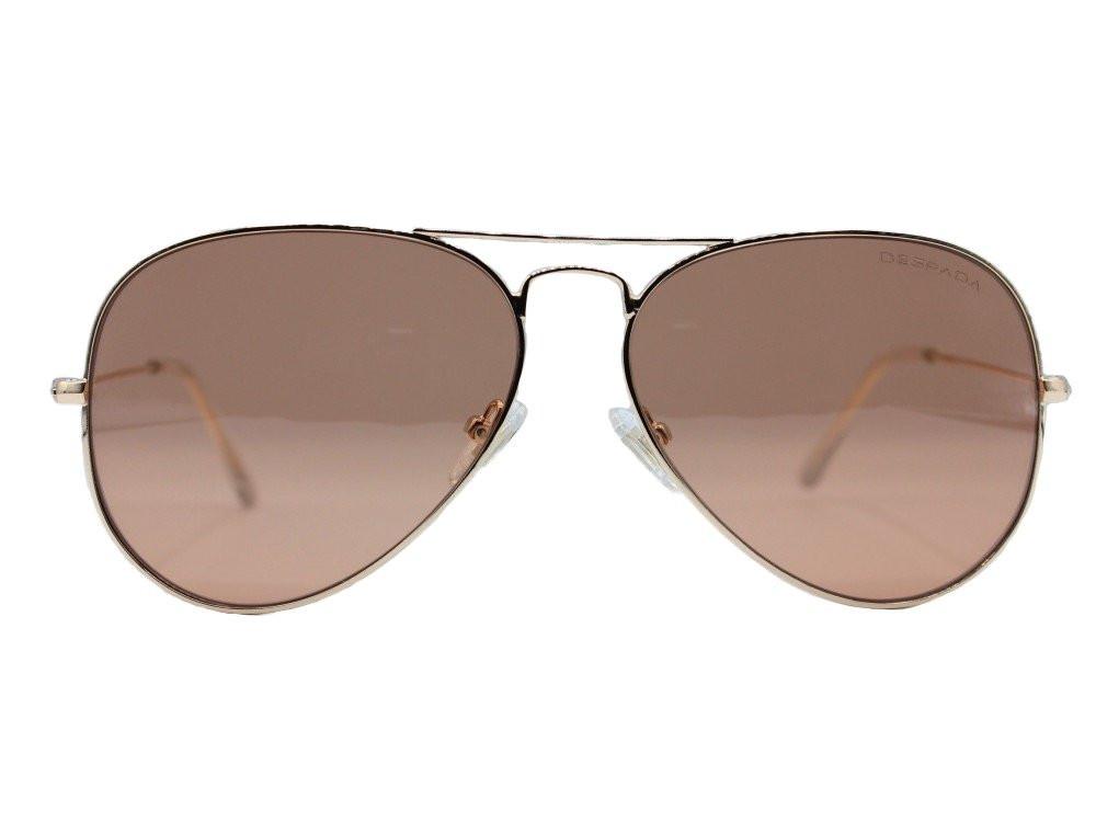 نظارات شمسية ماركة DESPADA ديسبادا نسائية ايطار ذهبي عدسات وردي جودة ع