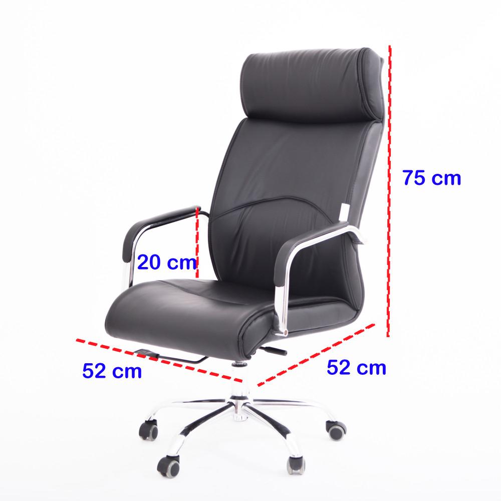 كرسي مكتبي جلد اسود YA-10BLACK