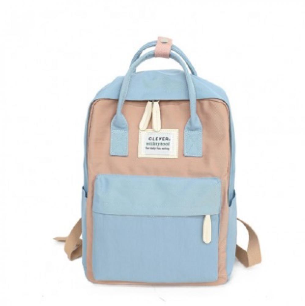 حقيبة دراسية سماوي وردي