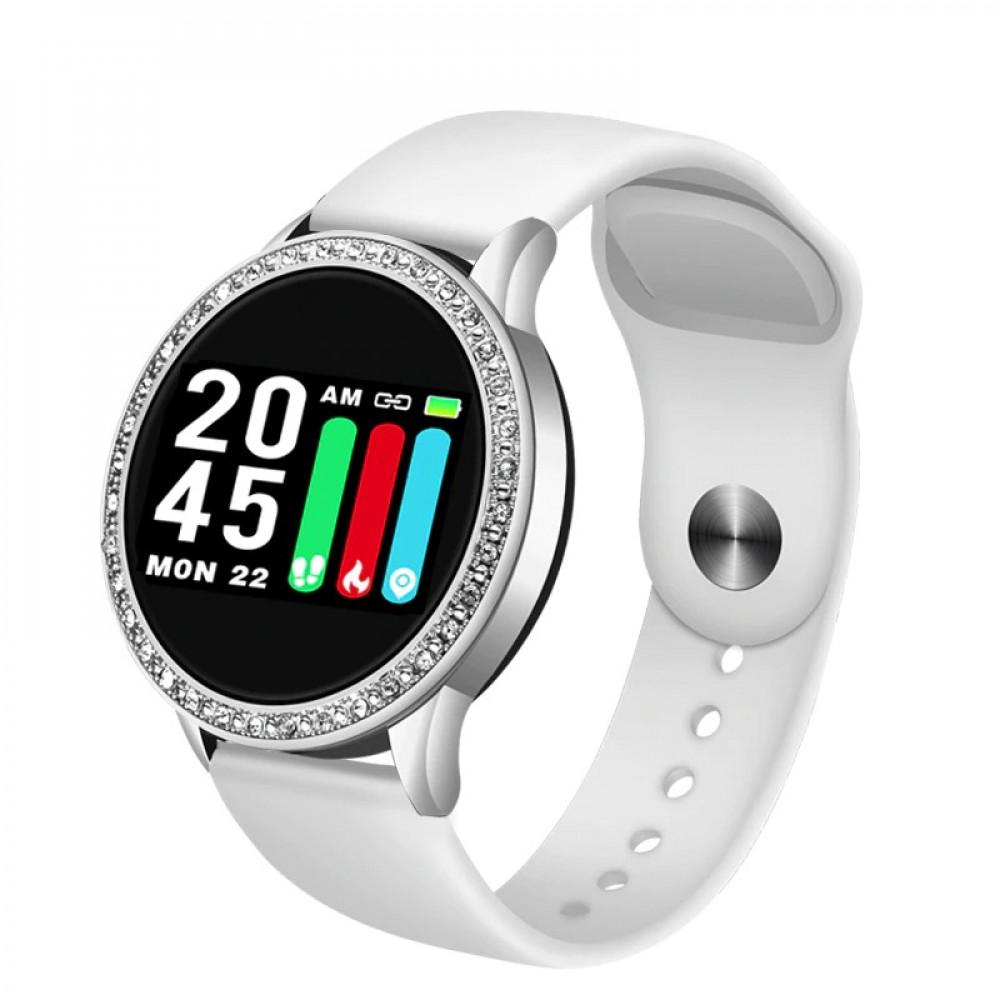 ساعة يد ذكية فاخرة مرصعة بالألماس التقليدي بتصميم عصري جديد نسائية