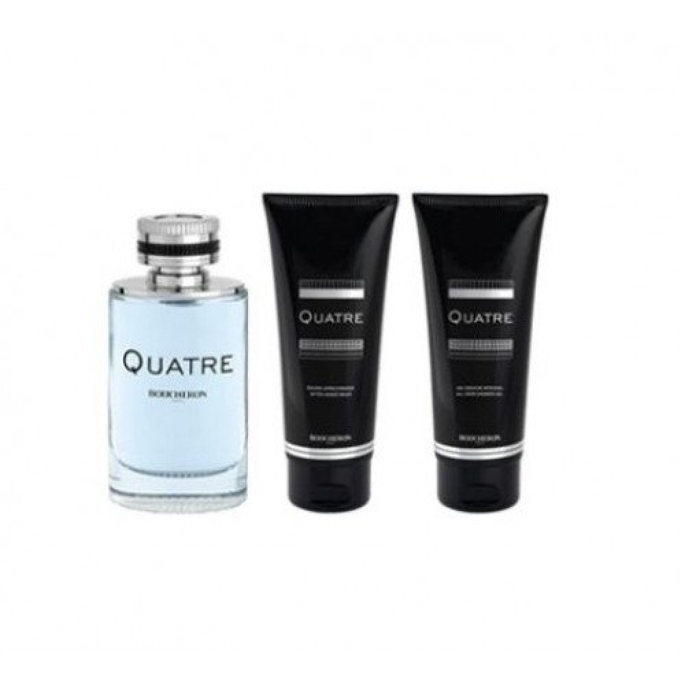 Boucheron Quatre for Men Eau de Toilette 100ml 3 Gift Set متجر خبير ال