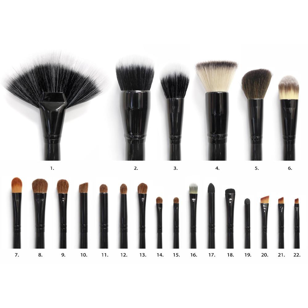 فرش كوستال 22 فرشة coastal scent 22 Piece Makeup Brush Set