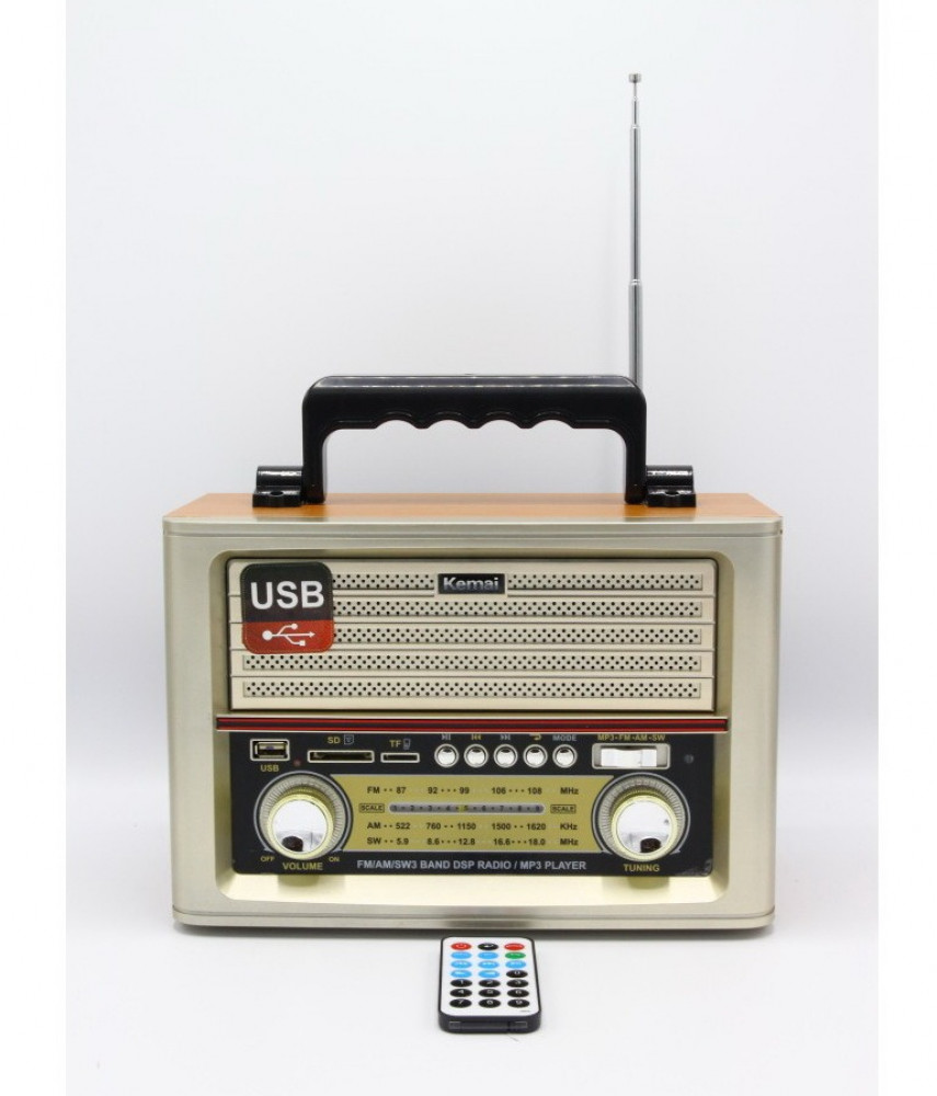 راديو تراثي  MD-1705BT يعمل على قنوات  AM FM  SW يدعم فتحة  USB SD