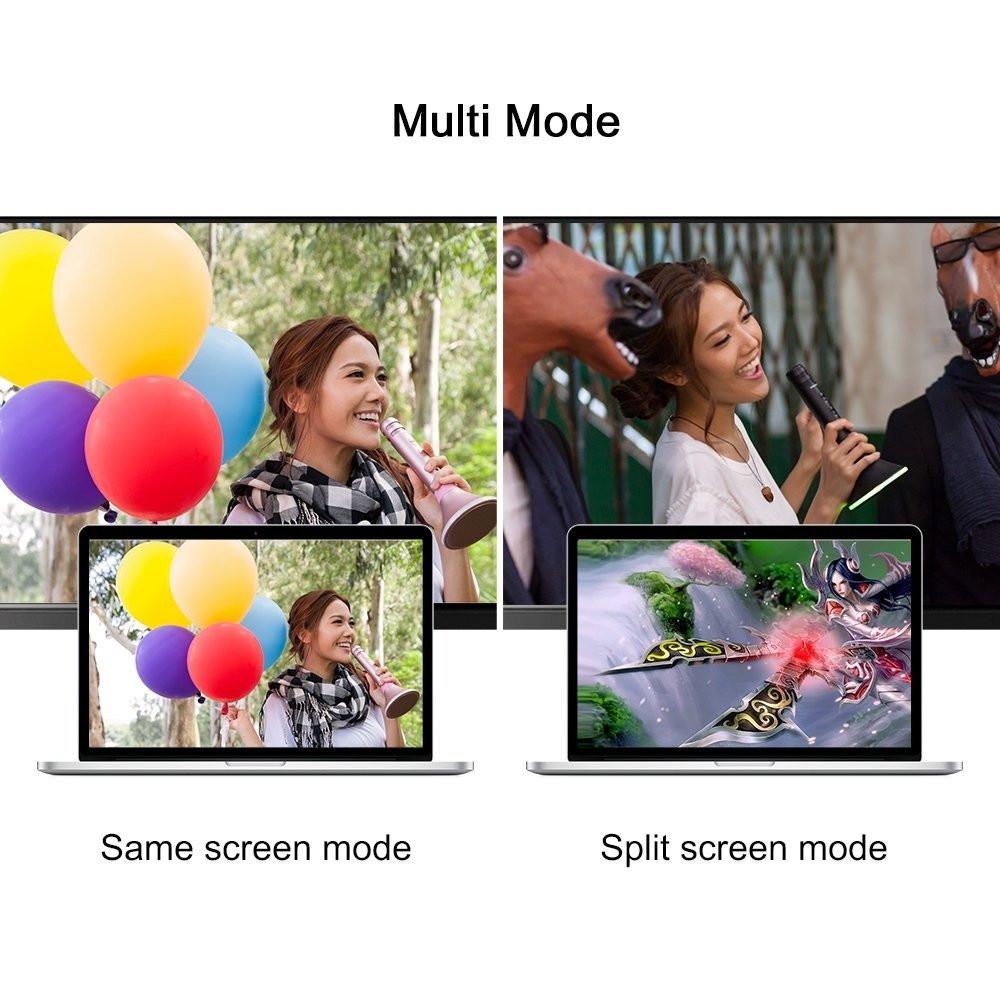 وصلة HDTV تدعم 4K من موماكس لعرض جهازك على الشاشة USB-C to HDMI - أسود