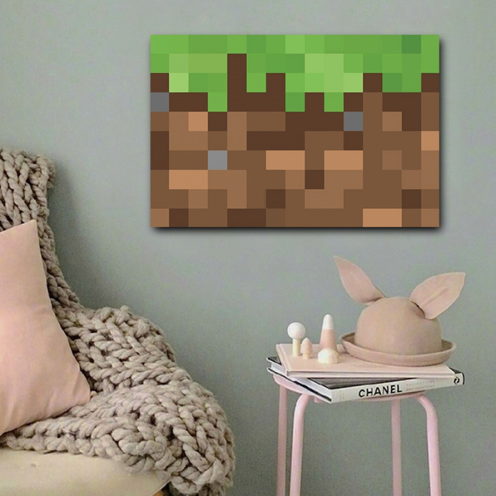 لوحة لعبة ماين كرافت خشب ام دي اف مقاس 40x60 سنتيمتر