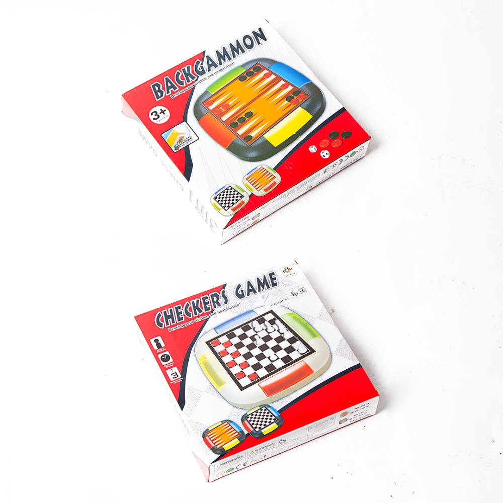 شطرنج ولعبة ثنائية- حجم صغير بلاستيك
