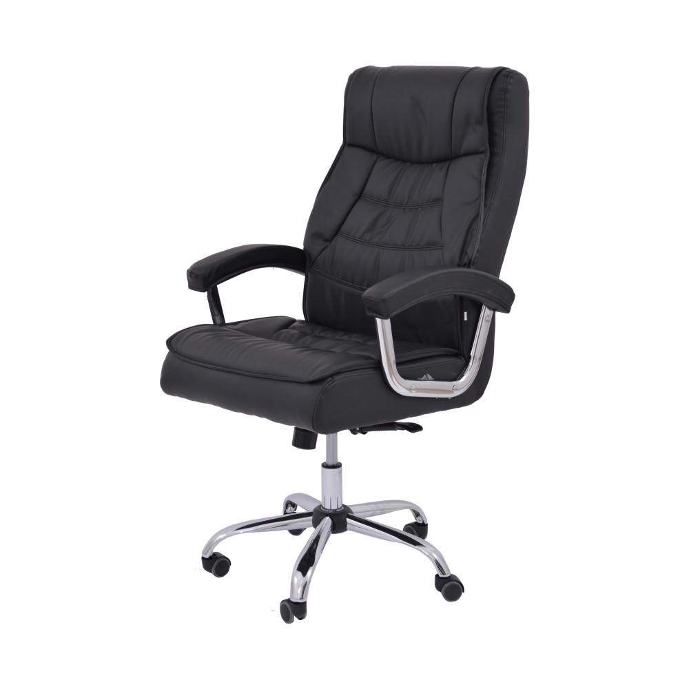 كرسي دوار جلد اسود من كاما  DTKXH-9250