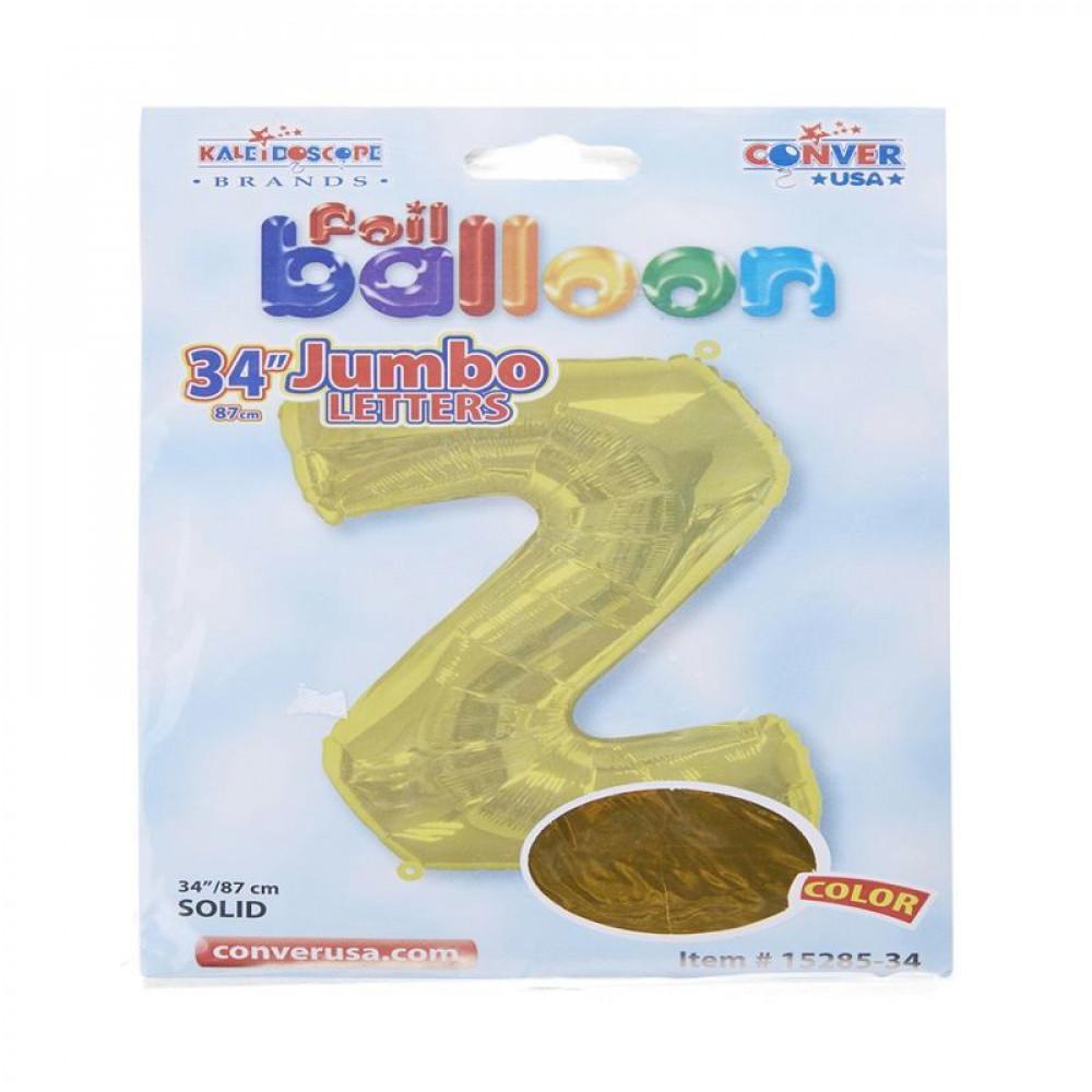 بالون ذهبي, بالون حرف Z, بلونات أحرف, Golden Balloon
