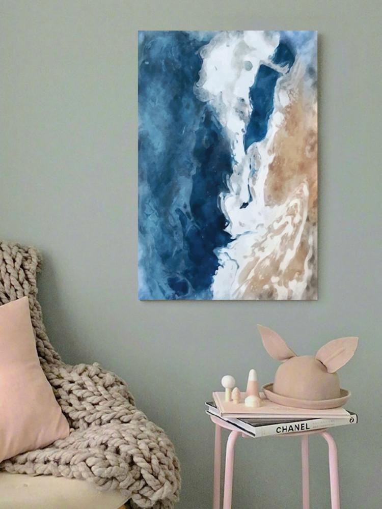 لوحة شاطئ البحر خشب ام دي اف مقاس 40x60 سنتيمتر