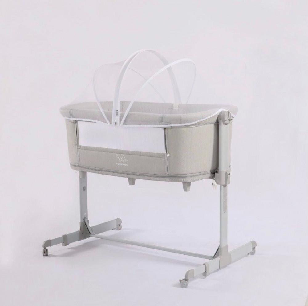 ناموسية سرير بيبي - سرير الاطفال المطور مع ناموسية S5 لون نيفي