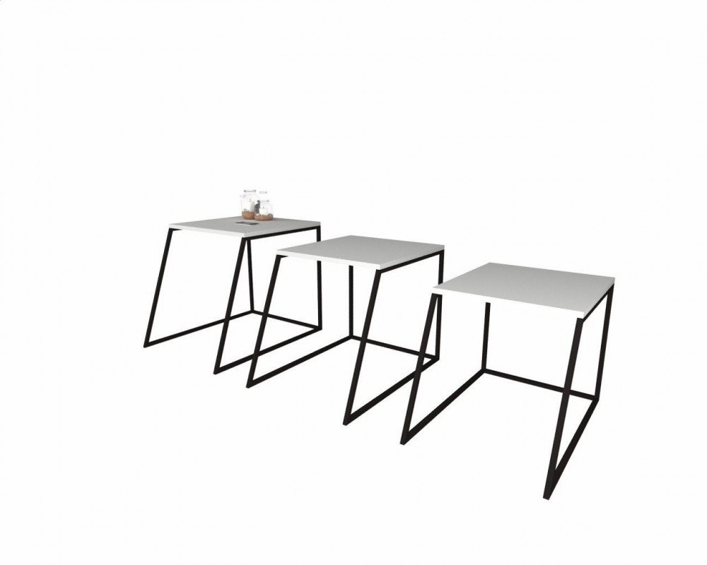 مواسم طقم طاولات مكون من 3 قطع يسهل طيها لتشغل أقل مساحة ممكنة