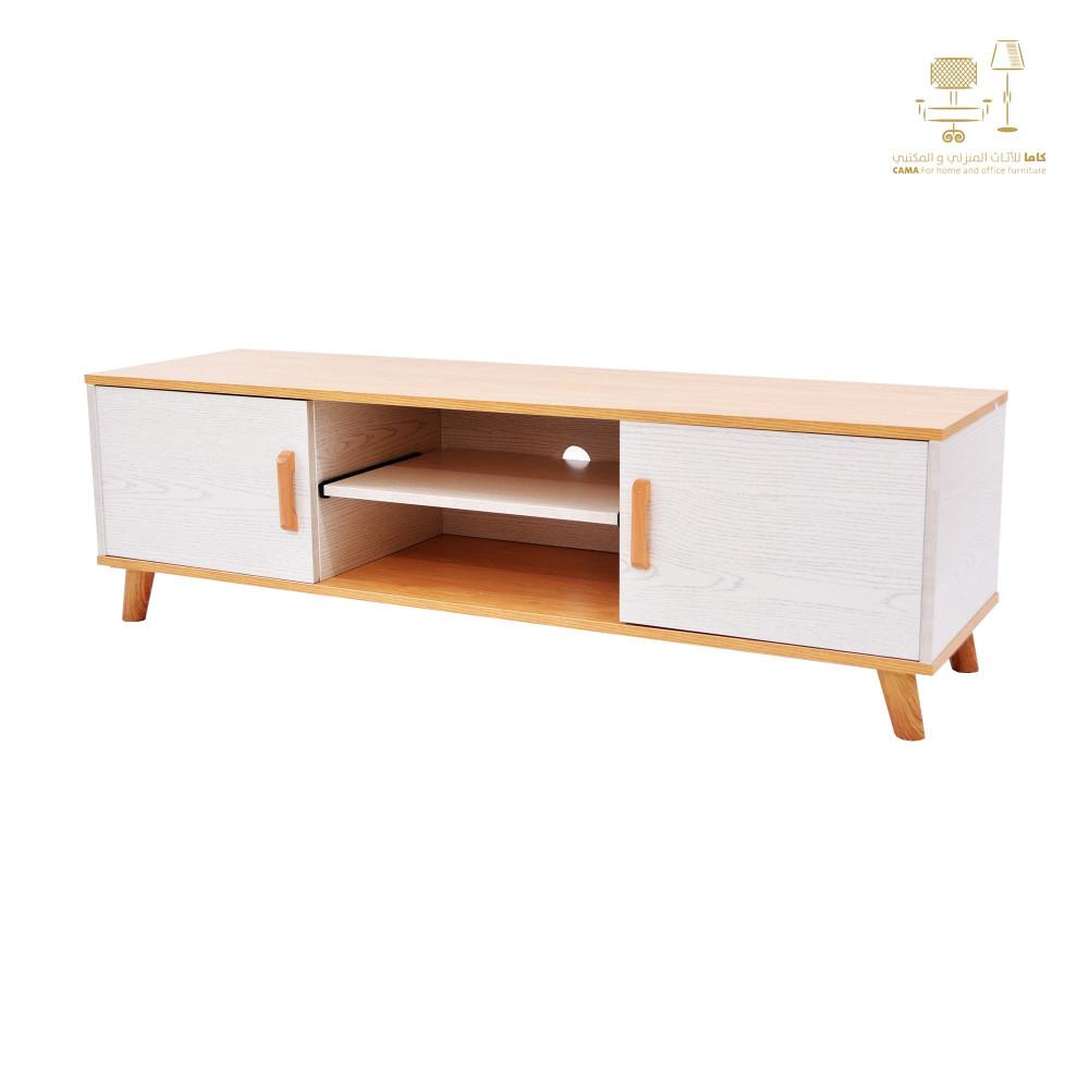 طاولة تلفزيون خشبي 140 سم C-TV-102-140 BEIGE من كاما
