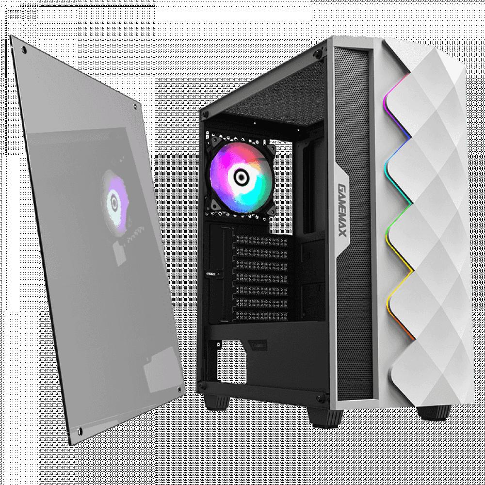 كيس قيم ماكس ابيض GAMEMAX WHITE DAIMOND صندوق حاسب