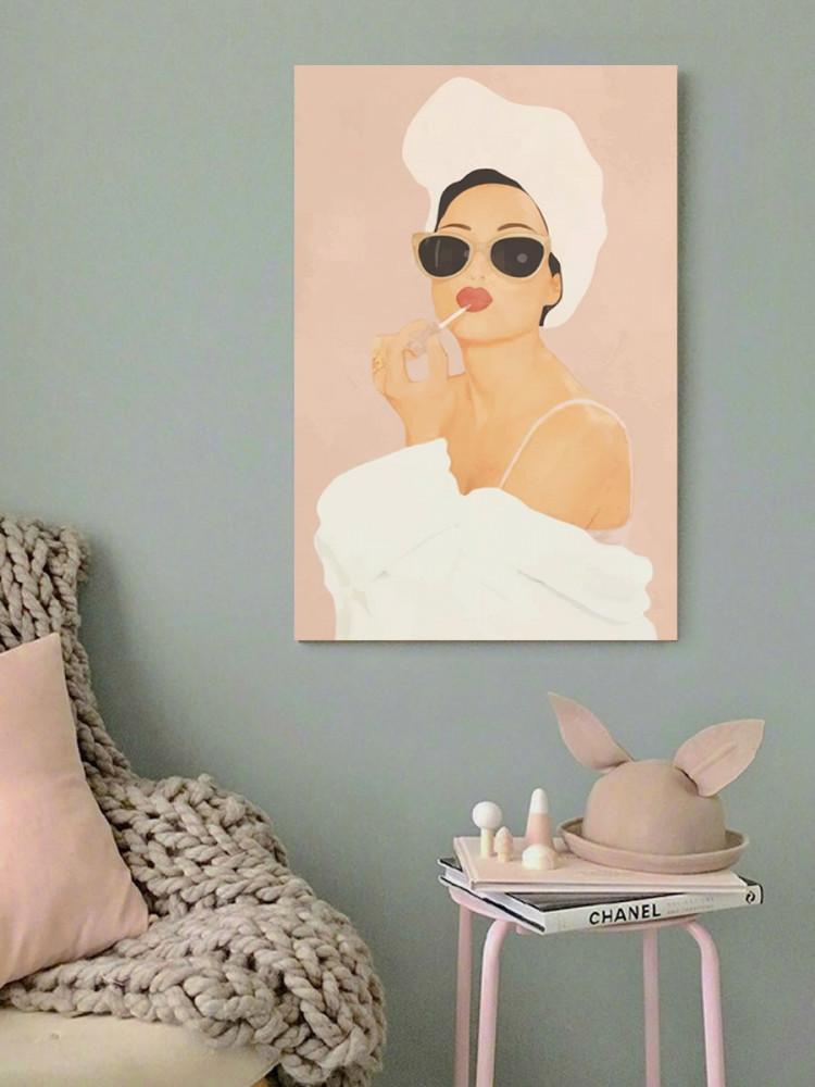 لوحة المرأة الكول خشب ام دي اف مقاس 40x60 سنتيمتر
