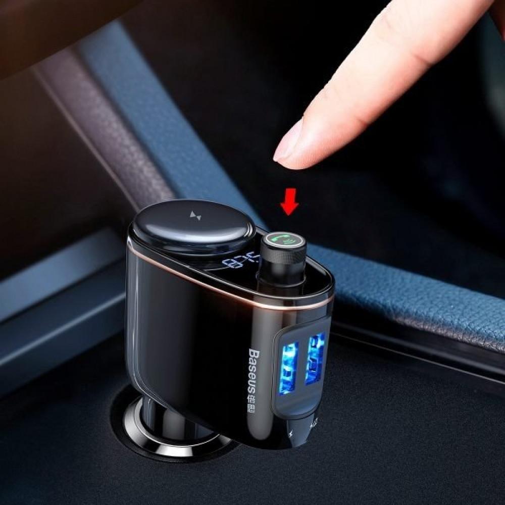 شاحن سيارة من Baseus متعدد الأغراض يدعم إجراء المكالمات وتشغيل الموسيق