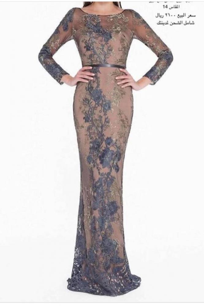 فستان سهره فاخر للمناسبات من مصمم امريكي المقاس 14