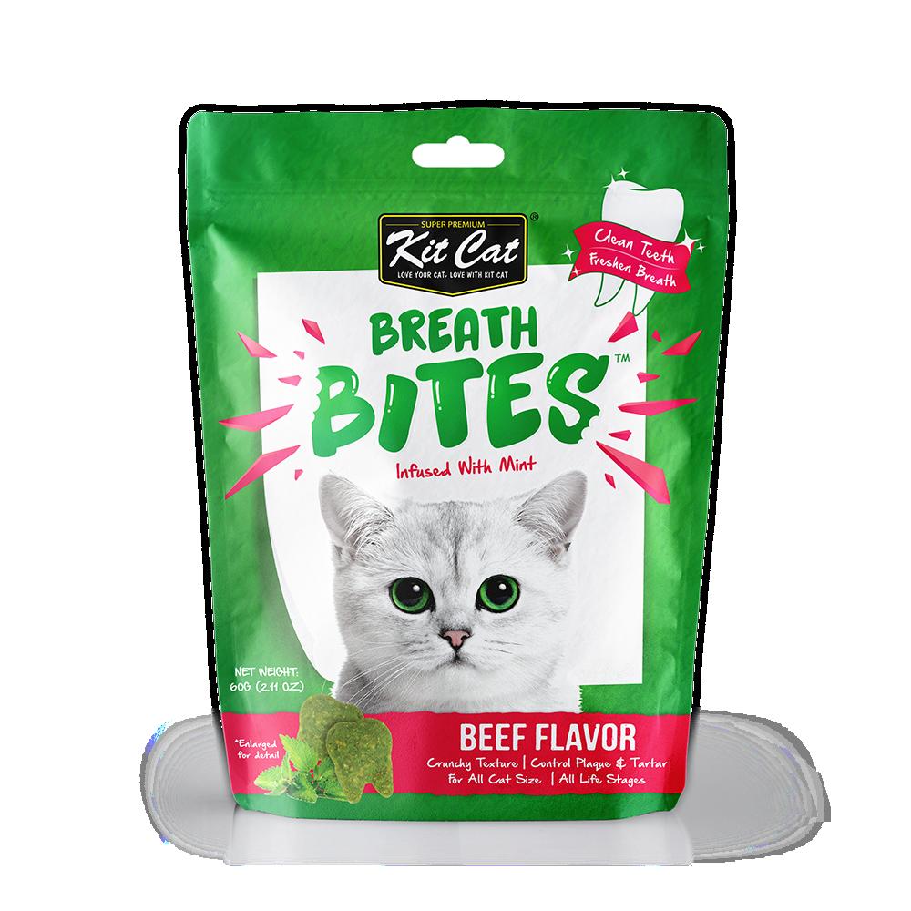 كت كات بريث بايتس مكافآت للقطط للعناية بالاسنان باللحم البقري 60غ