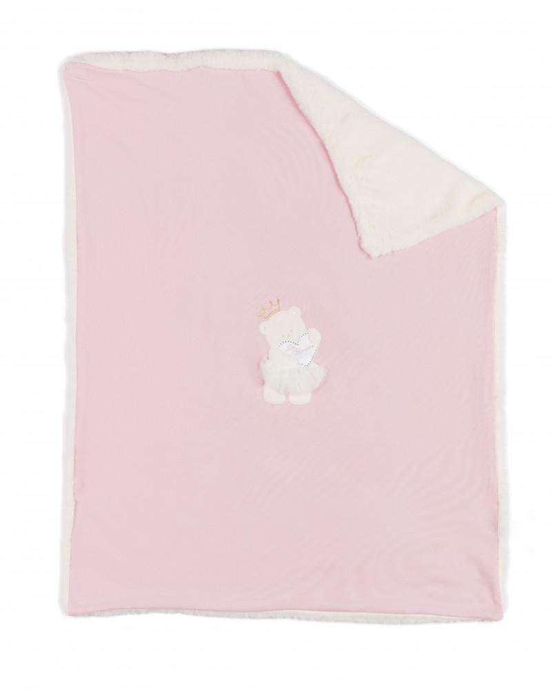 بطانية بتصميم انيق باللون الزهري  من ماركة Miss Blumarine