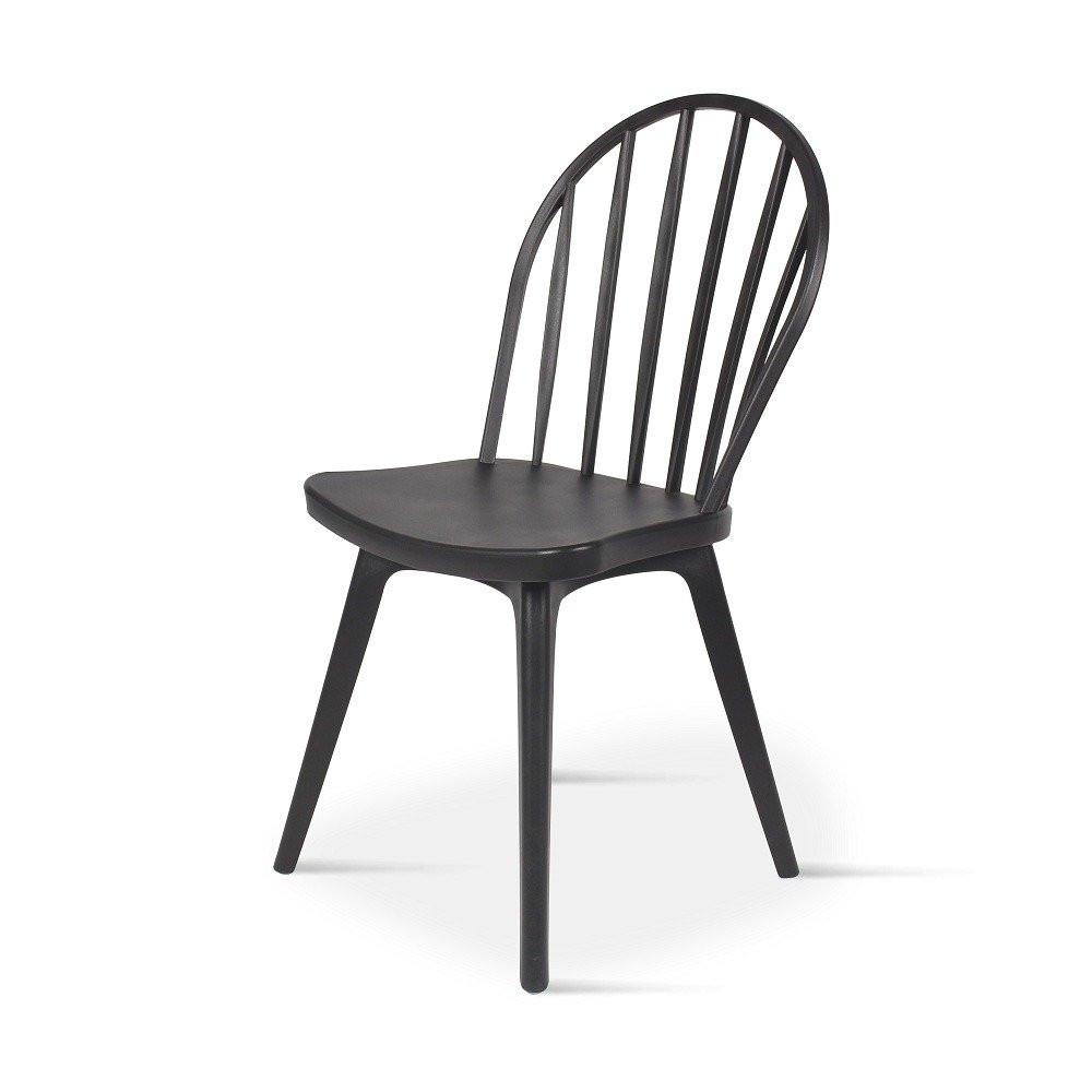 كرسي للمطبخ جميل من طقم كراسي 4 قطع أسود في تجارة بلا حدود للأثاث