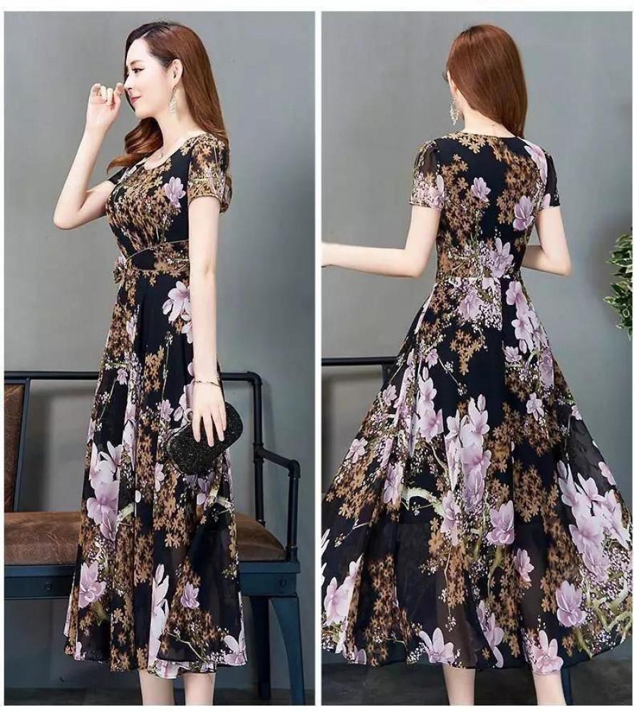 فستان طويل مورد