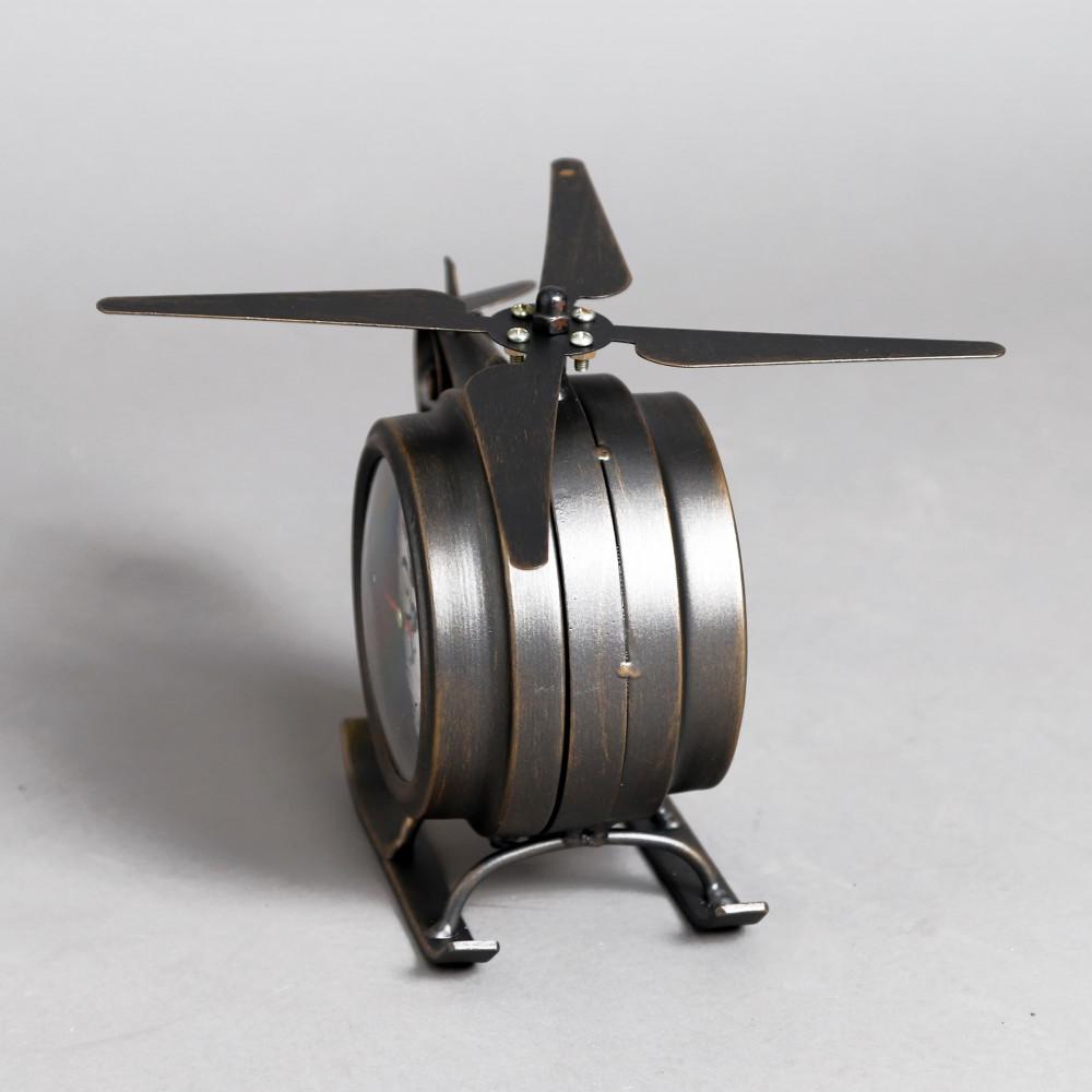 صورة ساعة طاولة أنتيكة موديل بلان وان شكل الطائرة صناعة معدنية الفاخرة