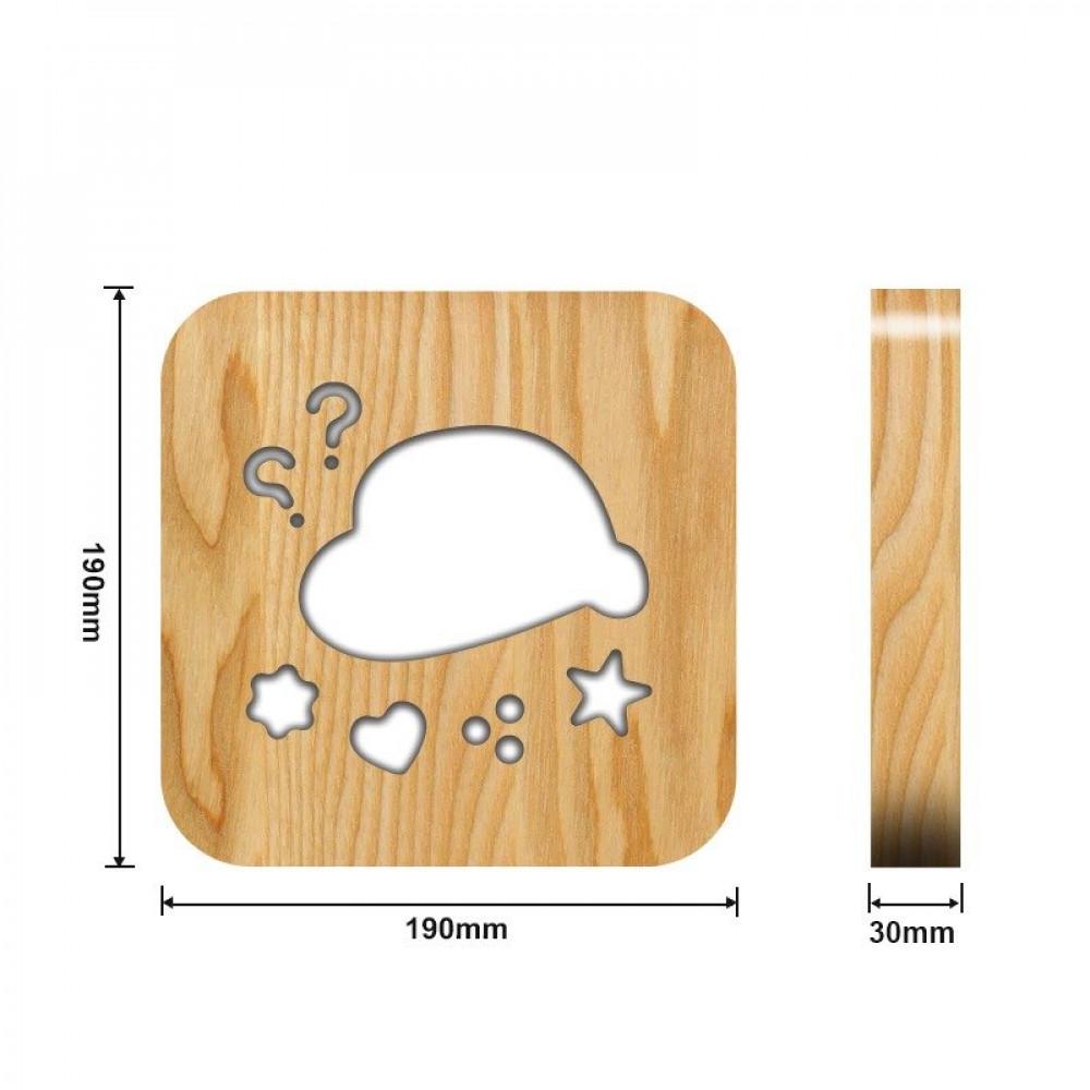 تحفة فنية شكل مميز باللون الخشبي من مواسم القياسات التفصيلية للتحفة
