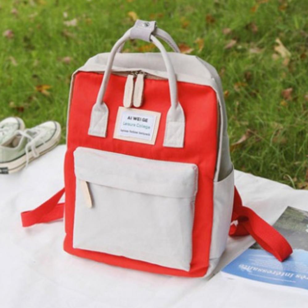 حقيبة دراسية حمراء