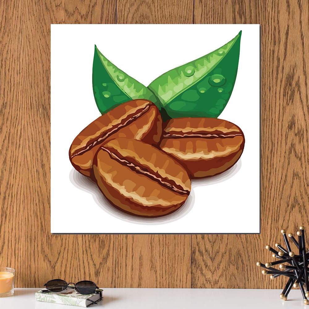 لوحة بن القهوة خشب ام دي اف مقاس 30x30 سنتيمتر