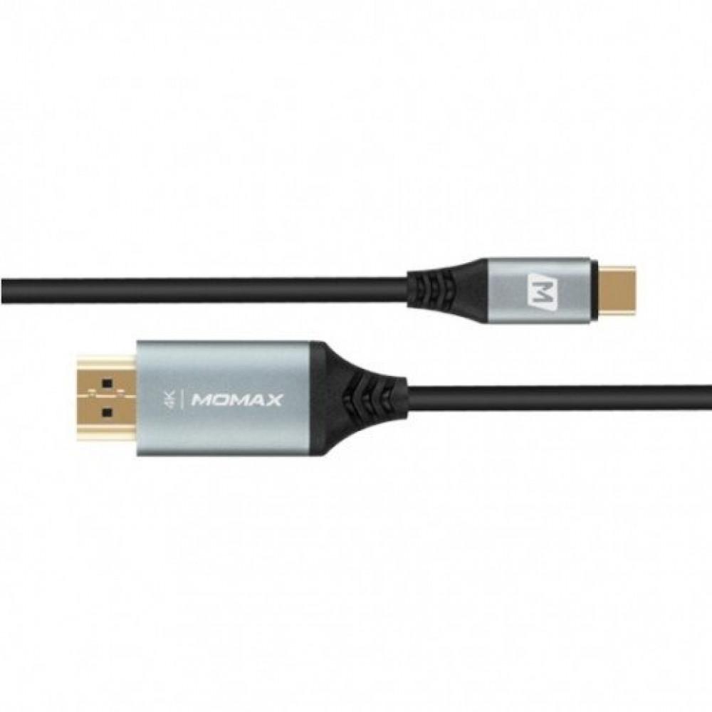 وصلة HDTV تدعم 4K من موماكس لعرض جهازك على الشاشة USB-C to HDMI - رماد