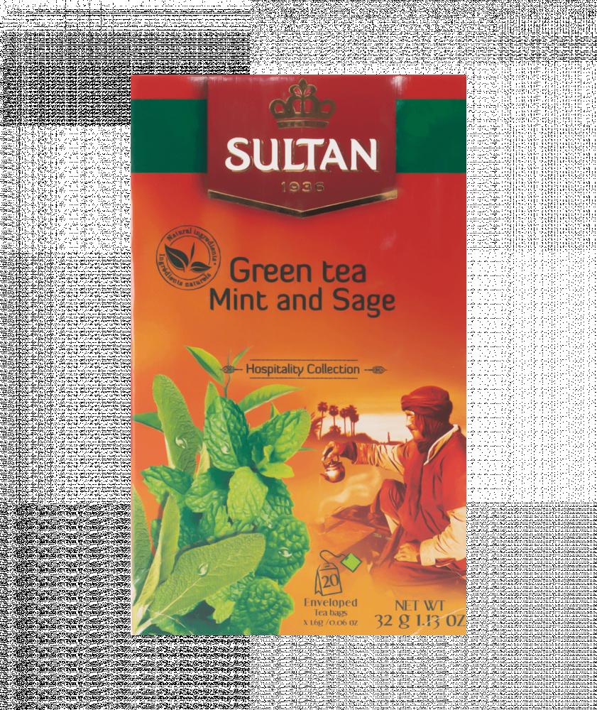 بياك-سلطان-شاي-اخضر-مغربي-بالنعناع-و-المرمرية-شاي