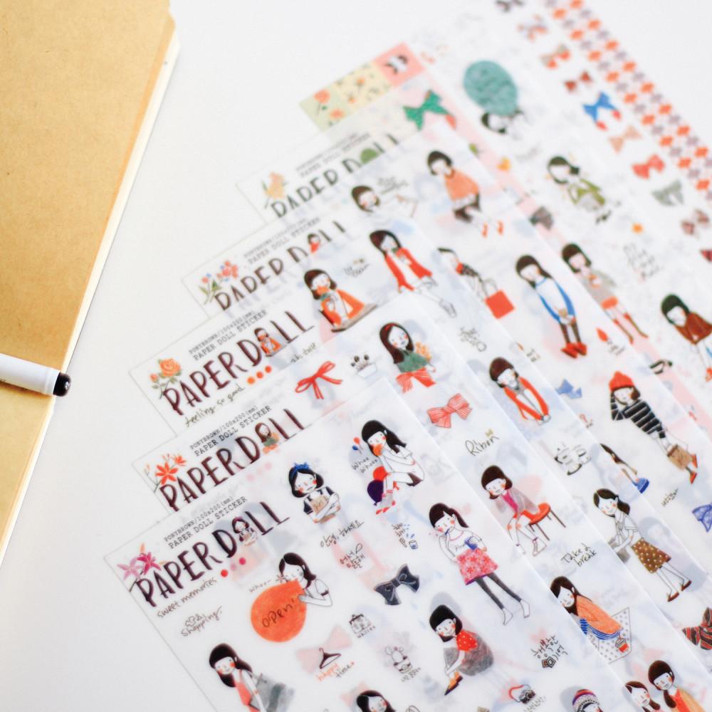ستيكرات كوري ستيكر أجندة لابتوب اللواكر ورق لاصق ملصقات كيبوب