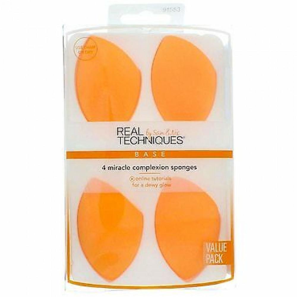 ريل تكنيكس مجموعة اسفنجة ريال تكنيكس 4 قطعة لون برتقالي مشطوف REAL TEC