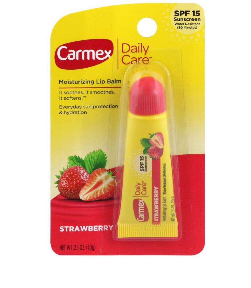 carmex مرطب شفايف بالفراولة مع حماية من الشمس من كارميكس