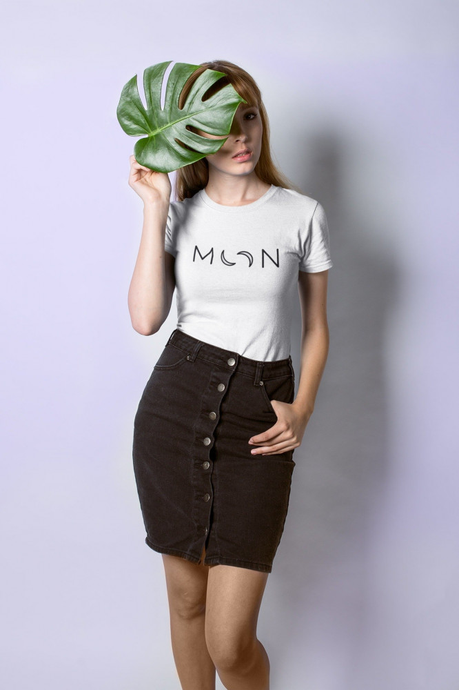 girl with moon t-shirt