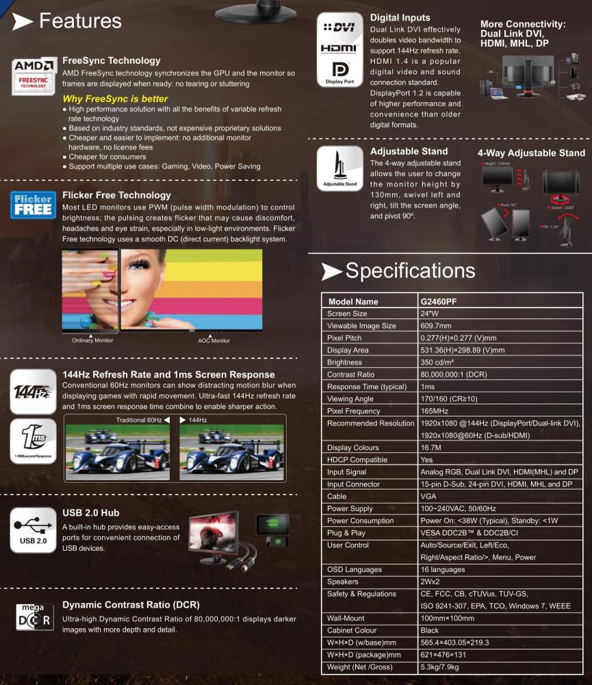AOC 24 Gaming Monitor