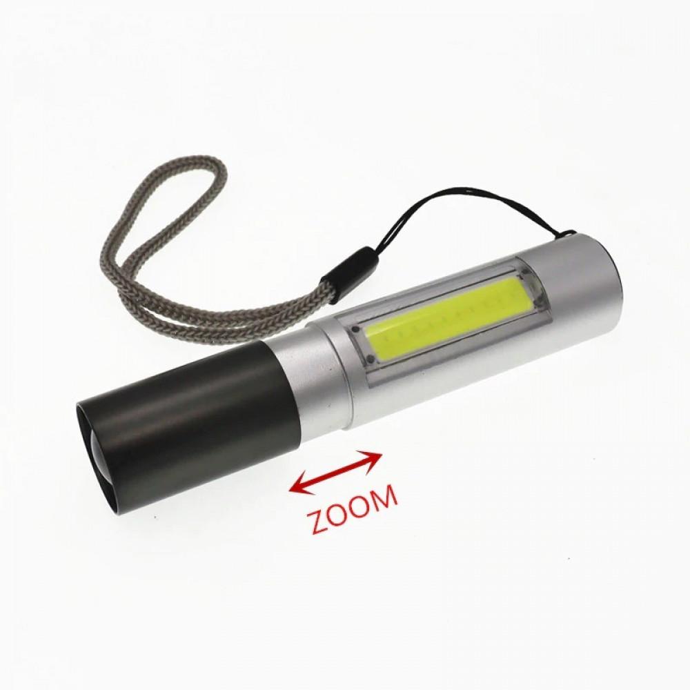 مصباح صغير الحجم ال أي دي يدوي بخاصية التكبير قابل للشحن مع 3 اوضاع