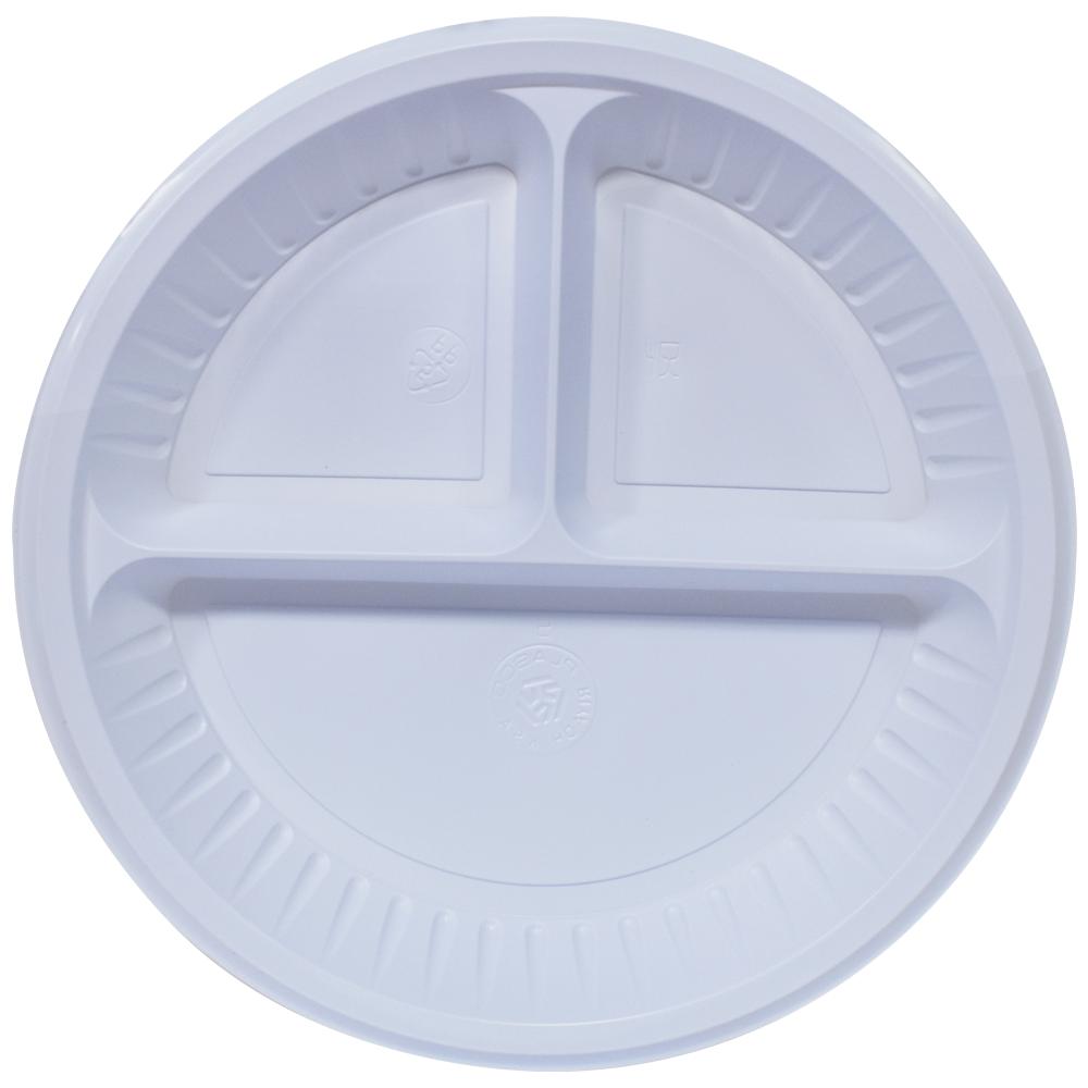 صحون بلاستيك دائري مقسم 50 حبه
